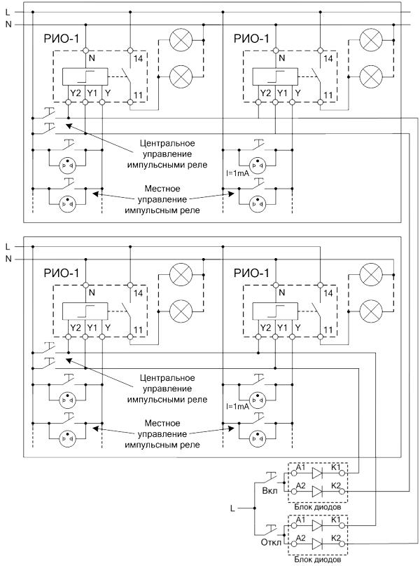 Схемы подключения модулей