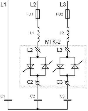 Схемы подключения тиристорных контакторов МТК-2 (МКТ-21).