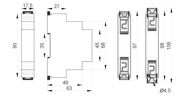 Реле контроля тока РКТ-2