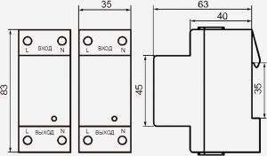 Габаритные размеры УЗМ-50Ц