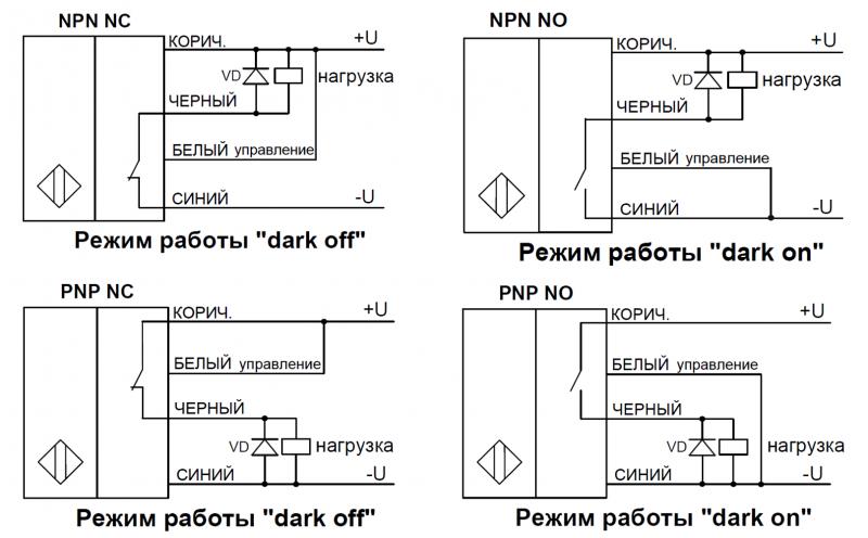 Схемы подключения датчика ВИКО-МС