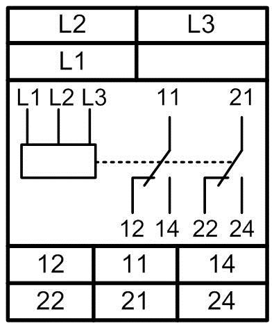 Реле напряжения трехфазное vp380 схема подключения