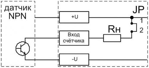 Подключение датчика типа NPN к СИМ-05т-3-17
