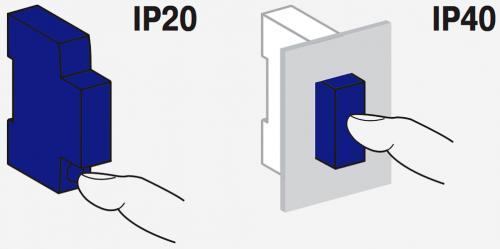Вариант защиты вплоть до IP40
