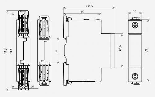 Габаритные размеры УЗМ-50
