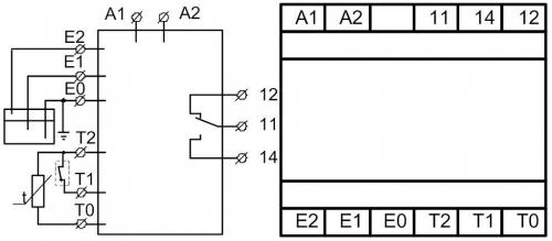 Схема подключения РКУ-1М