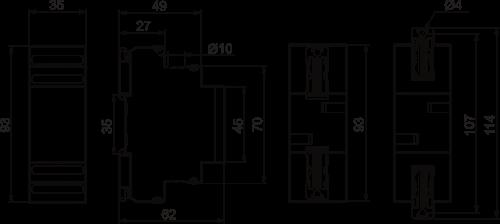 Габаритные размеры ВАР-М01-083
