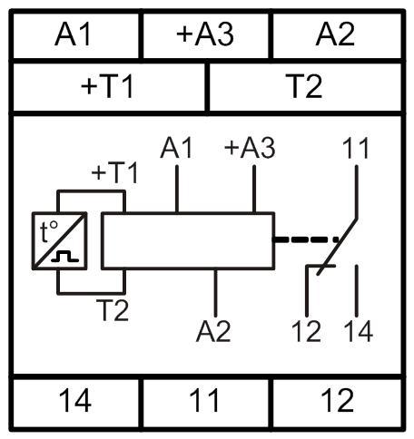 подключать на клемму «+А3»