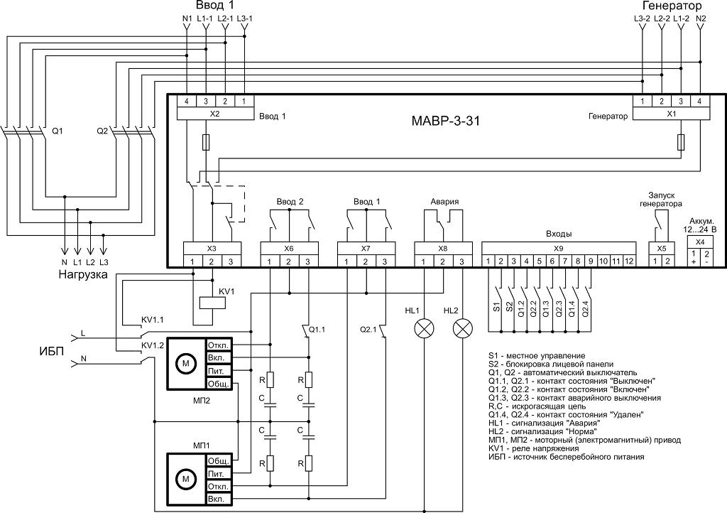 Схема авр автоматах приводами 396
