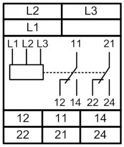 Схема подключения РКФ-М07