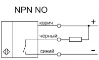 Схема подключения приёмника датчика ВИКО-Е NPN NO