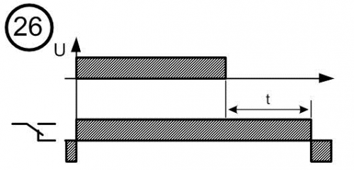 Диаграмма работы реле времени № 26