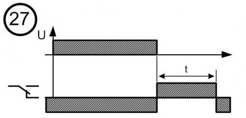 Диаграмма работы реле времени № 27